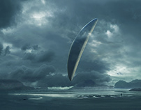 "Inspired matte painting ""Arrival """