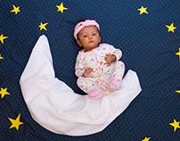 Flatlay infant photography