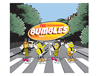 "PRINT - ""THE BUMBLES"" album cover & inside & back cover"