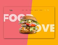Food Love Website Header- Sketch