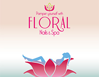 Magazine and newspaper advertisement for Floral Spa
