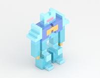 pixelart robot