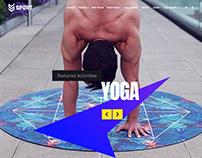 Sport WordPress Theme - Home Slider Yoga