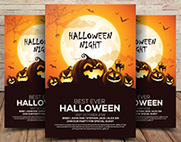 Free Halloween Party Invitation Flyer PSD