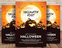 Free Halloween Party Invitation Flyer PSD