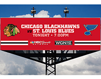 Chicago Blackhawks Digital Billboard Ads