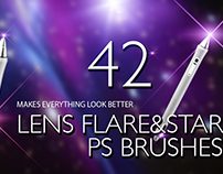 Lens Flare & Stars Photoshop Brushes