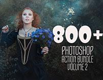 800+ Photoshop Action Bundle Vol. 2