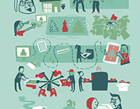 Screen Printing Company Holiday Greeting Card Design