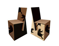 Chairs made of recycled cardboard