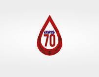 Logo Avis 70th Anniversary