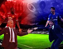 Manchester United v Chelsea Poster