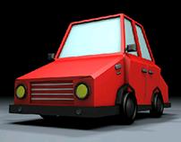 Carro sencillo Low Poly - Simple Car Low Poly