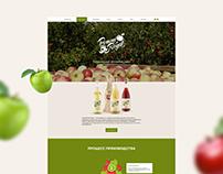 Сайт бренда яблочного сидра Pomme Royal
