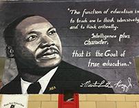 M.L.K.Jr. Mural - Dossin Elementary - Detroit