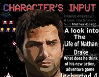 Nathan Drake Magazine Cover