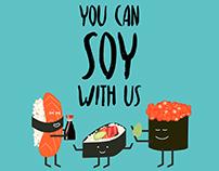 Sushi Squad Illustration