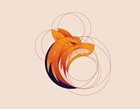 Fox Logo Design With Golden Ratio