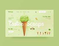 IceScoops UI design concept 🍦🍦