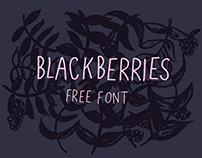 Blackberries- A sweet, free font