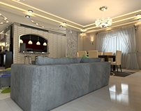 Interior design visualization for A.Alhakim interiors