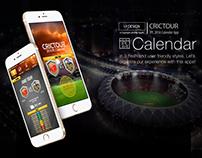IPL 2016 Calender App UI