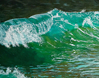 Ocean wave Acrylic painting