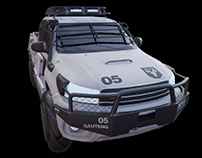 Toyota Hilux 3d low poly