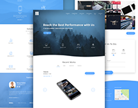 CUBE – Landing page