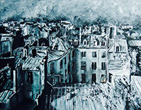 Rencontre parisienne - Peinture