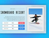 Snowboard Resort Booking UI