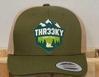Apparel designs for Thr33ky