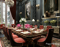 the spirit of a stallion scene dining space
