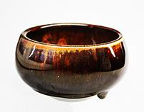Oil spotted tenmoku tea bowl