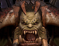 Orc Bust for 5518 Studios project