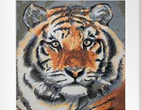 PLAKA Painting ( Tiger )