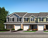 Craftsman Style Row Houses - Exterior Renders