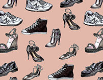 Seamless pattern: Shoes