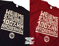 "WELCOME 2 THE JUNGLE ""radio show"" t-shirts 2016"