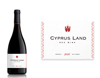 Wine label for Cyprus Land