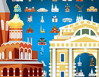 «Gazprom for children » – 82 Icons for Interactive Map