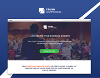 Crush Campaigns Landing Page