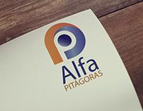 Logotipo para o novo sistema de ensino do Colégio Alfa