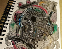:Dimensions: aquarelle, drawing, paper, 2017