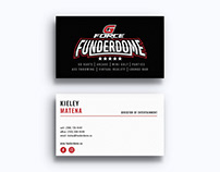 Branding: GFORCE Funderdome Business Cards