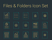 Files & Folders Icons Set