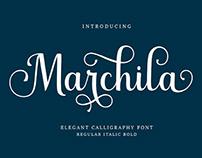 FREE | Marchila elegant calligraphy font