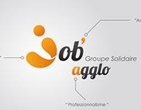 Création et déclinaison des logos du Groupe Job'agglo