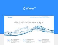 Water landing page