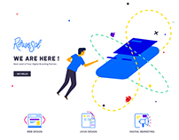 Agency Landing Page l with illustrations